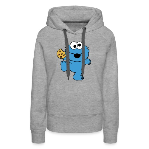 Dancing cookie monster mug - Women's Premium Hoodie