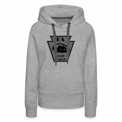 Keystone with Cabin Black and Grey - Women's Premium Hoodie
