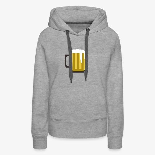 8 Bit Beer Mug Shirt - Women's Premium Hoodie