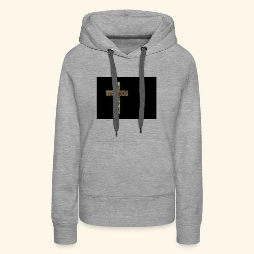 Gold Leaf Cross - Women's Premium Hoodie