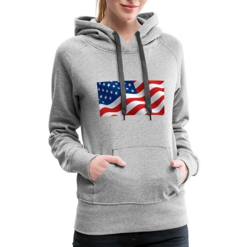 USA Flag - Women's Premium Hoodie