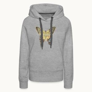BUTTERFLY-LEPIDOPTERA-PASTEL-Carolyn Sandstrom - Women's Premium Hoodie