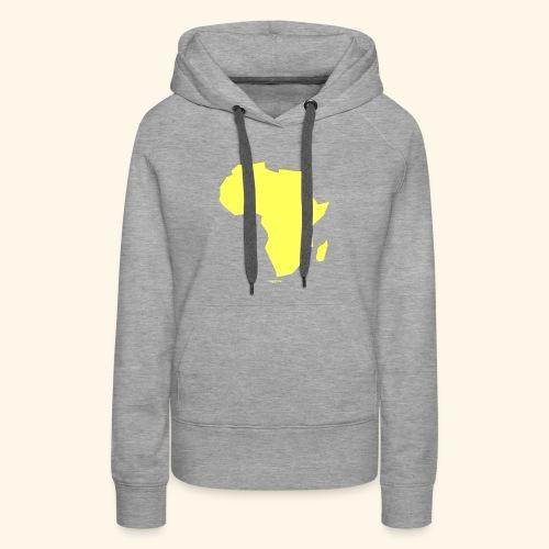 Africa Map Continent yellow - Women's Premium Hoodie