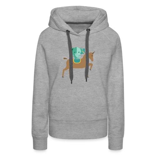 Unicorn and elephant - Women's Premium Hoodie