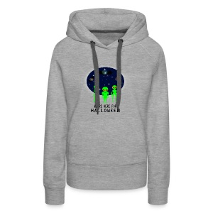WE'RE HERE FOR HALLOWEEN - Women's Premium Hoodie