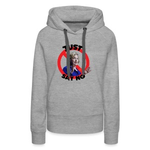 Just_say_no_to_Hilary_small - Women's Premium Hoodie