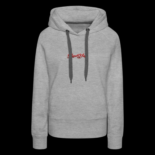 HypeWay Red Cursive - Women's Premium Hoodie
