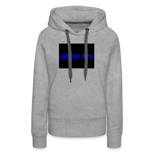 Legendary Stitch - Blue Stitch Design - Women's Premium Hoodie