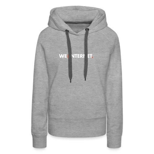 Classic WTI logo in white - Women's Premium Hoodie