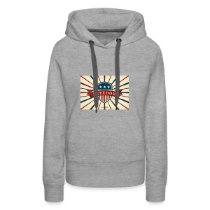 vector retro freedom illustration - Women's Premium Hoodie