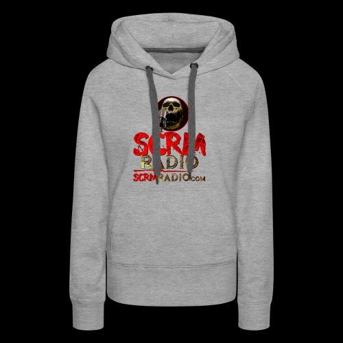 SCRM Radio Logo with Skull - Women's Premium Hoodie