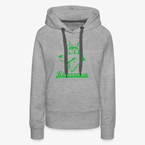 Köterrasse grün - Women's Premium Hoodie