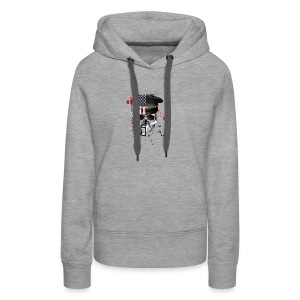 American Flag Military Cap Skull collection - Women's Premium Hoodie