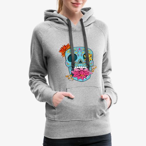 Day of the Dead Sugar Skull T-Shirt - Women's Premium Hoodie