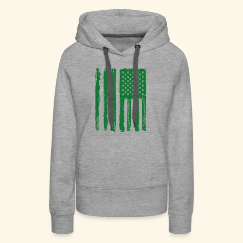 Free Denizens Legalize It US Cannabis Flag - Women's Premium Hoodie