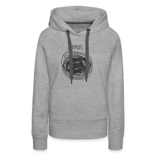 #Momlife MomLife Outfit - Scratch Art Design - Women's Premium Hoodie