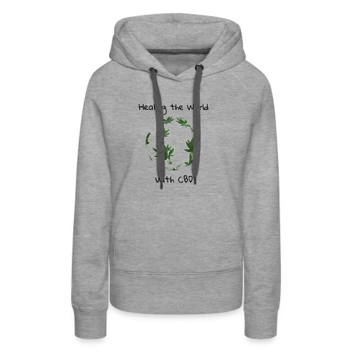 Healing the World with CBD - Women's Premium Hoodie