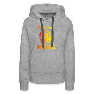 Blackprince LOVE FOR MUSIC - Women's Premium Hoodie