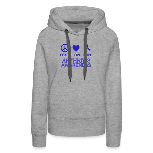 Arthritis awareness peace love hope - Women's Premium Hoodie