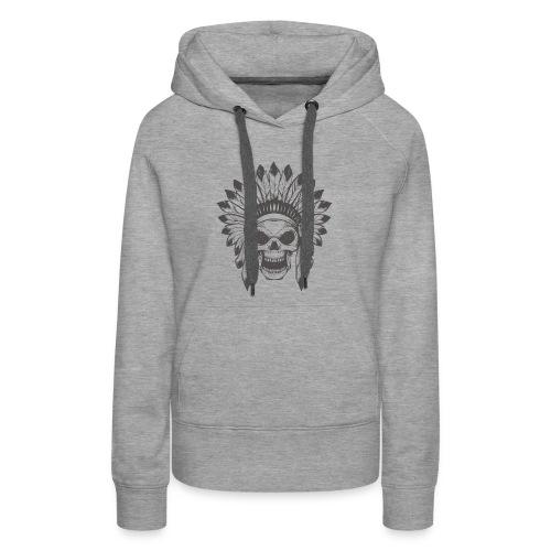 Indian skull - Women's Premium Hoodie