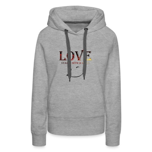lOVE starts with a smille - Women's Premium Hoodie