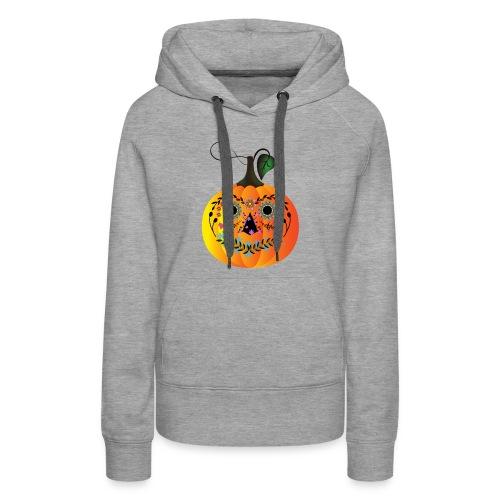 Sugar Skull Pumpkin - Women's Premium Hoodie