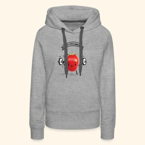 Tomato Man Gym - Women's Premium Hoodie