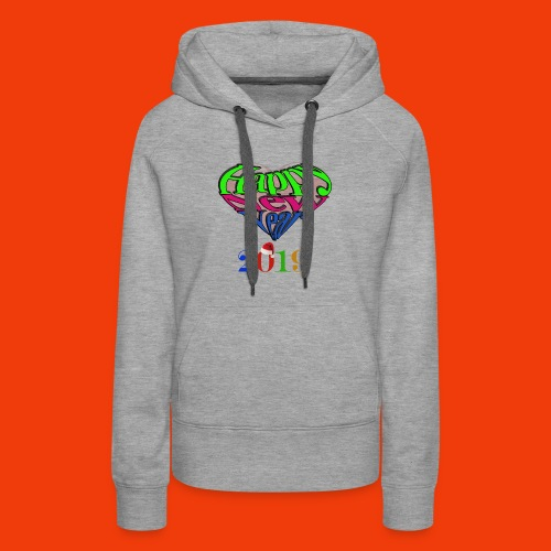 Happy new year 2019 T-shirt for all With heart - Women's Premium Hoodie