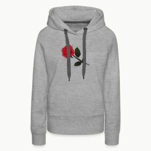 Rose Stem (Black) - Women's Premium Hoodie