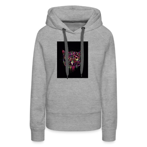 Colorful Owl Womans Shirt - Women's Premium Hoodie