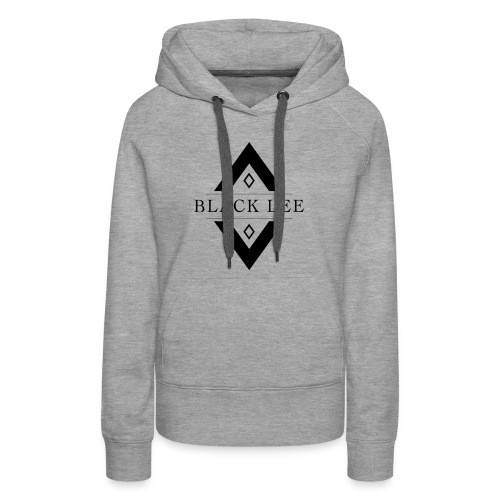 Black Lee Logo Transparent Black - Women's Premium Hoodie