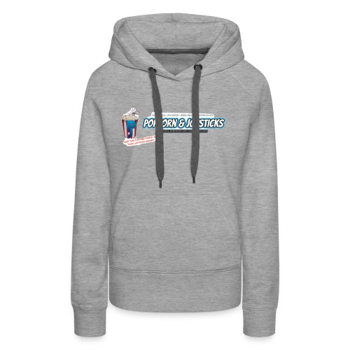 Popcorn and Joysticks Banner - Women's Premium Hoodie
