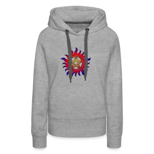 Anti Possession Symbol Sun Fire - Women's Premium Hoodie