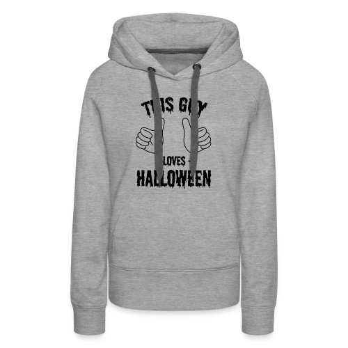 This Guy Loves to Party on Halloween - Women's Premium Hoodie