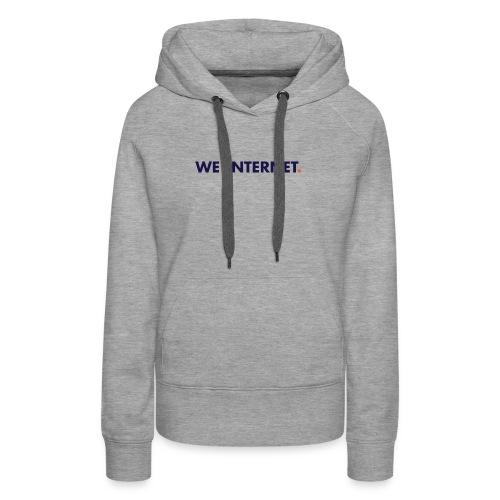 We the Internet Logo - Color Text - Women's Premium Hoodie