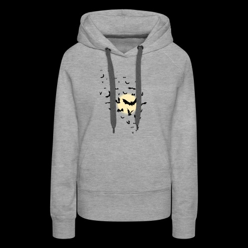 The Moon With Bats Halloween T shirt High Quality - Women's Premium Hoodie