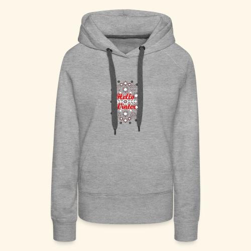 Hello Winter - Women's Premium Hoodie