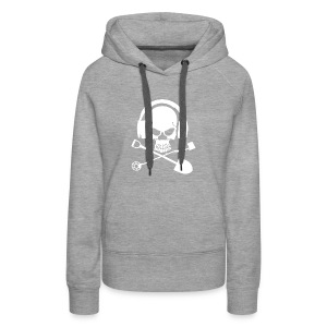 Silver Pirate Logo White LARGE TRANS - Women's Premium Hoodie