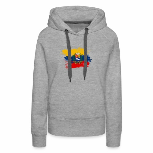 Flag of Venezuela and coat of arms - Women's Premium Hoodie