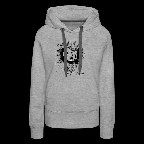cubico skull - Women's Premium Hoodie