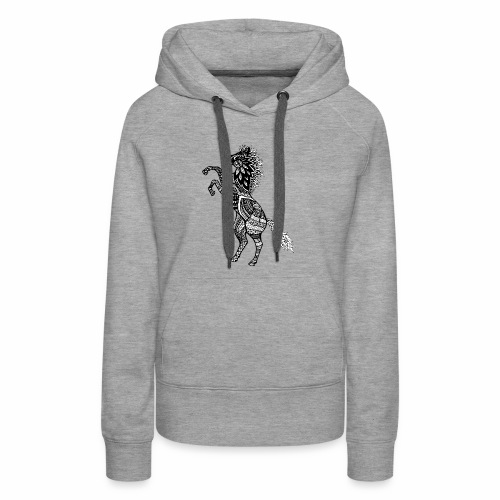 Rearing Horse Zentangle (abstract doodle) - Women's Premium Hoodie