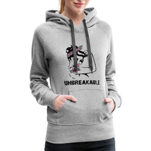 Breast Cancer Unbreakable Warrior - Women's Premium Hoodie