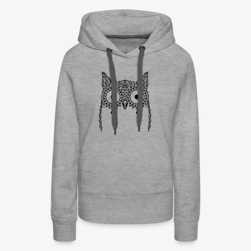 Black Owl Design - Women's Premium Hoodie