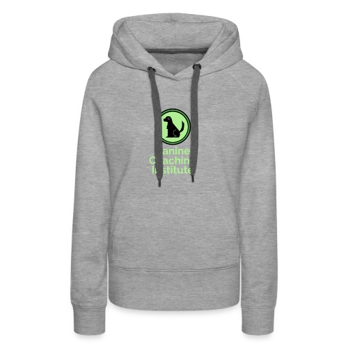 Canine Coaching Institute Logo with Light Green - Women's Premium Hoodie