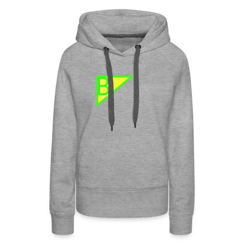 Neon green superman - Women's Premium Hoodie