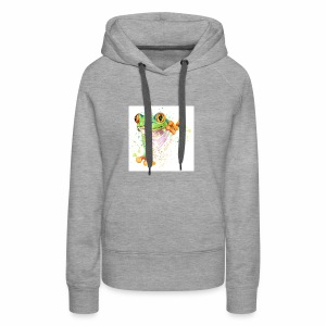 funny frog t shirt graphics frog illustration spl - Women's Premium Hoodie