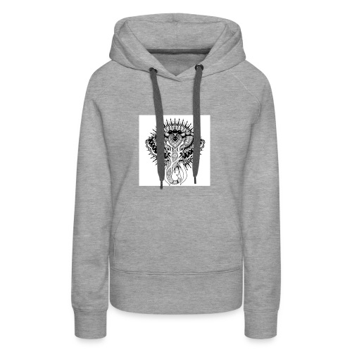beautiful abstract elephant - Women's Premium Hoodie