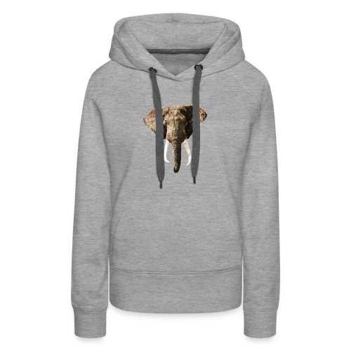 Elephant Geographic Head Illustration - Women's Premium Hoodie