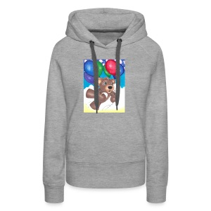 Bear floating with balloons; - Women's Premium Hoodie