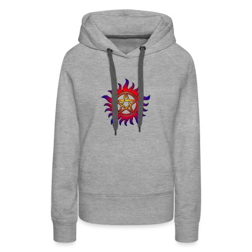 Anti Possession Symbol Sun Fire - Women's Premium Hoodie